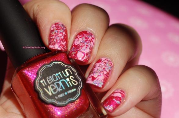 Pink platter nails