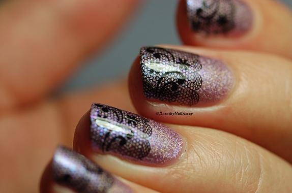 Nail Art dentelle (mewow) pour l'anniversaire de Vanille et les vernis