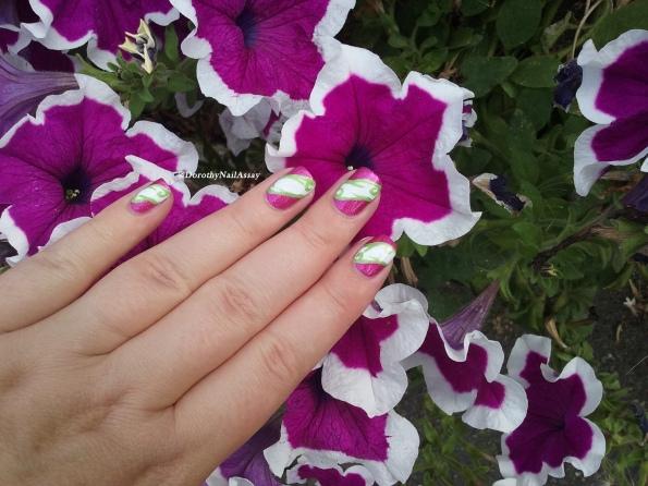 nail art tricolor IEUV