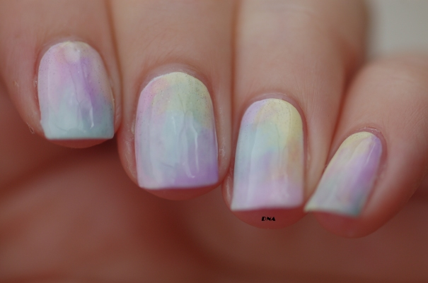 sheer tints OPI rainbow gradient