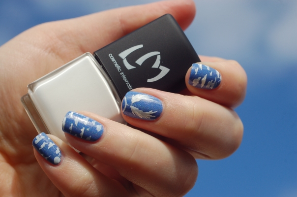 angel nail art reign beau in the sky