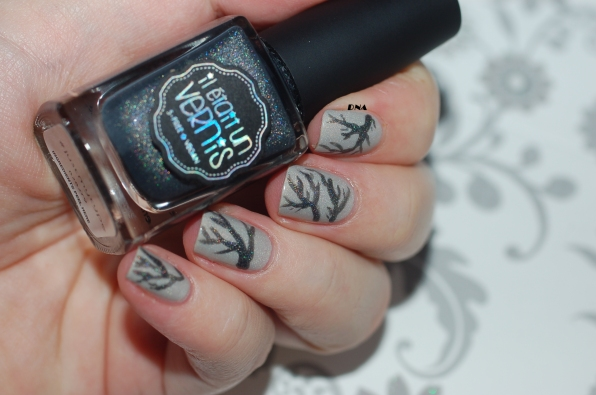 nail art IEUV I am a natural + just my type inspired by Girlg Grey Beauty