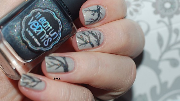 nail art IEUV I am a natural + just my type inspired by a make up