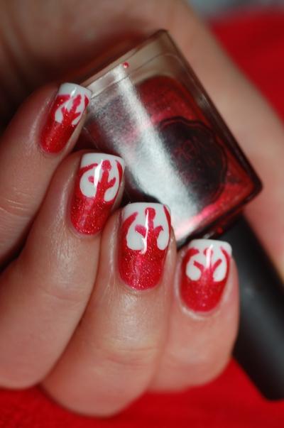 rebel symbol star wars nail art il etait un vernis