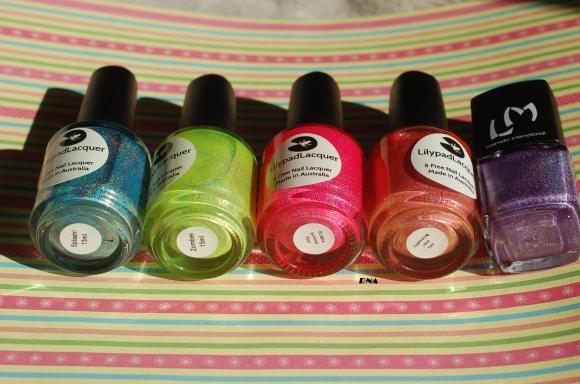rainbow lilypads