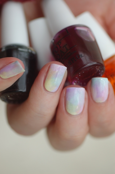 sheer tints OPI rainbow gradient