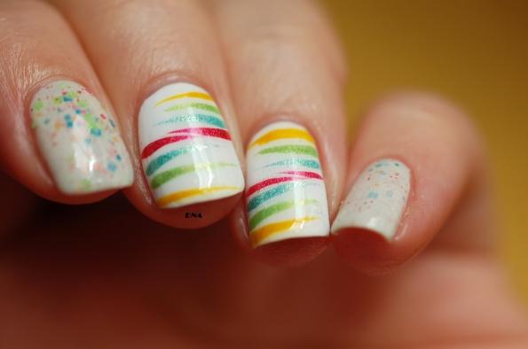 Rainbow stripes avec Il Etait Un vernis