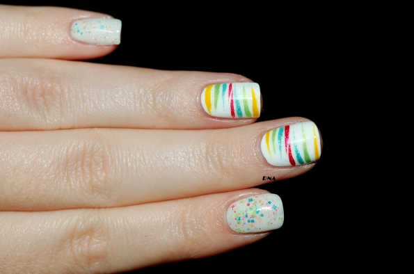 Rainbow stripes avec Il Etait Un vernis  + flash