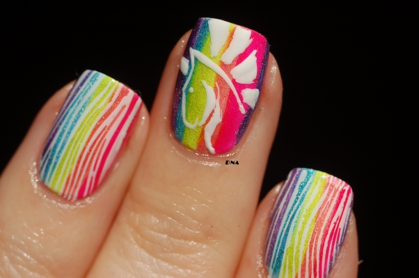 horse hair made with bundle monster * sloteazzy stamping plate and unicorn freehand
