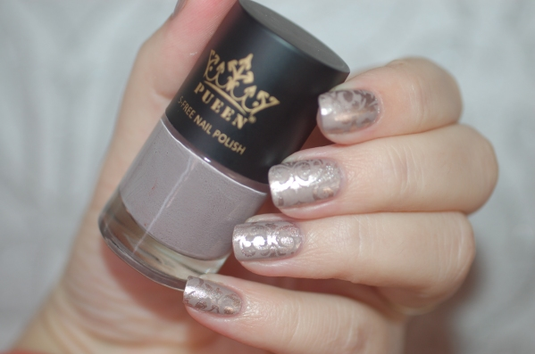 stmaping pueen on Picture Polish metallic mush