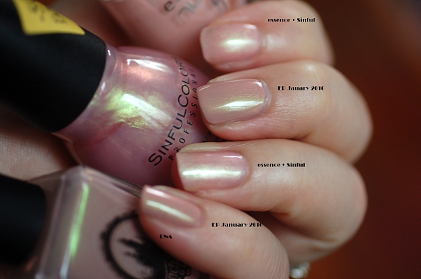 comparaison essence+ sinful = Enchanted Polish january2016