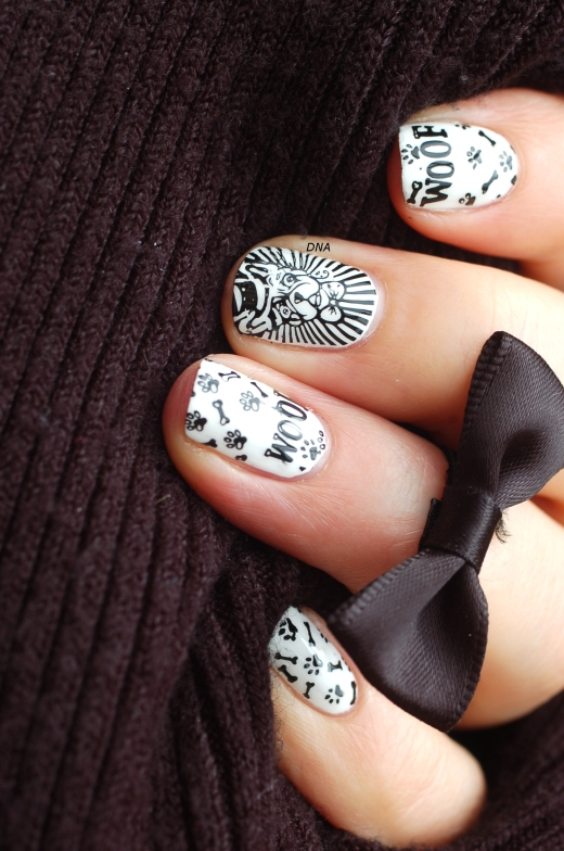 black and white nail art bundle monster