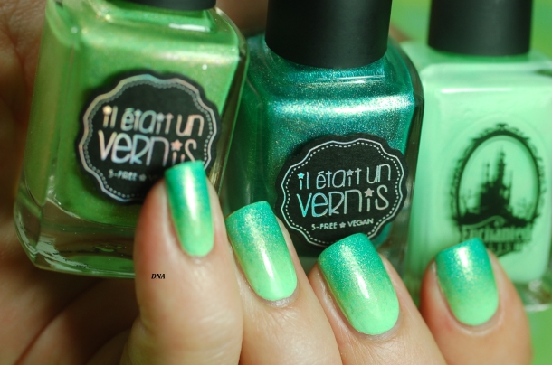neon pastel dégradé de vert