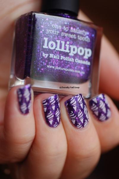 close up ice cream nail art