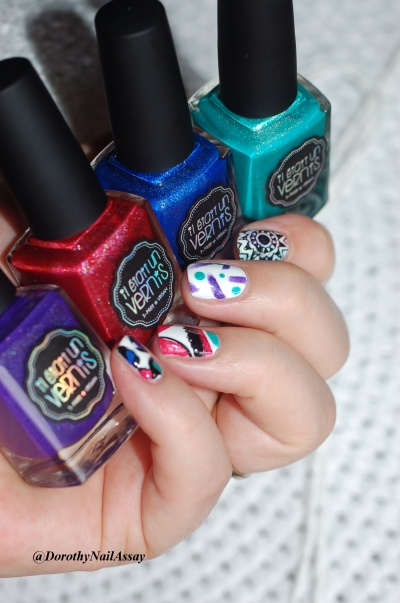 nail art inspiration desigual with the Welcome to paradise collection of IL ETAIT UN VERNIS