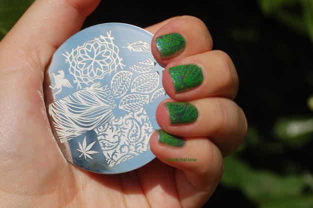 leaf nail art Nicole Diary