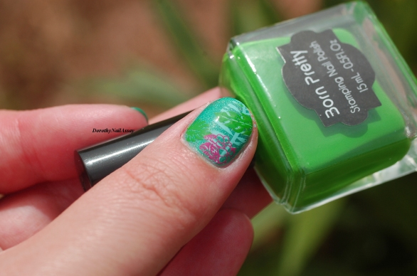 nail art jungle avec Née Jolie