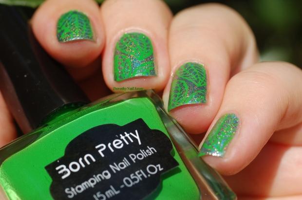 nee jolie stamping polish green (2)