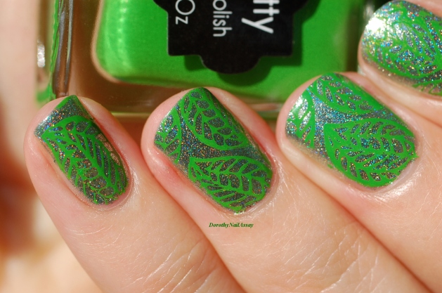 nee jolie stamping polish green