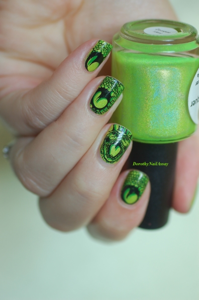 double stamping bundle monster over Zombee Lilypad lacquer