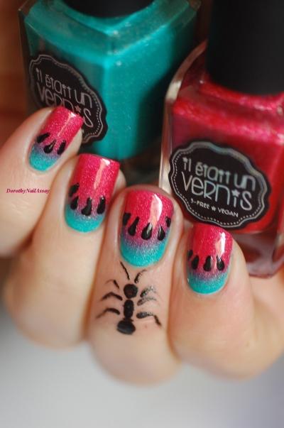 watermelon-nail-art