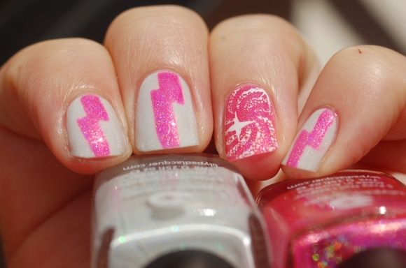 nail art with stamping Creative shop