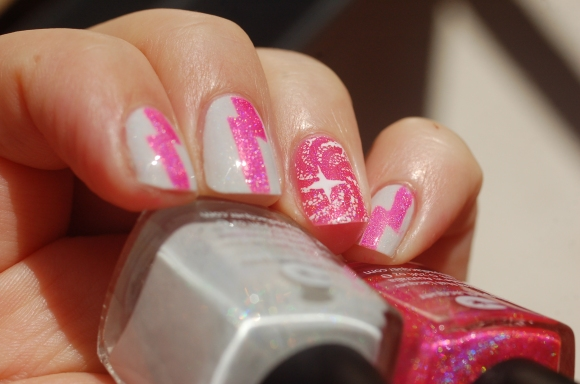 nail art with Lilypad Lacquer Loli Pop
