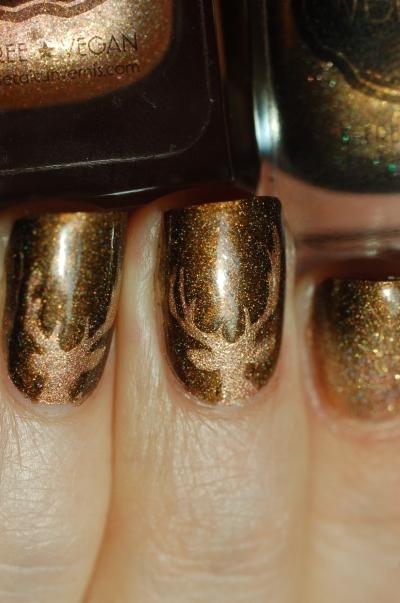 deer nail art