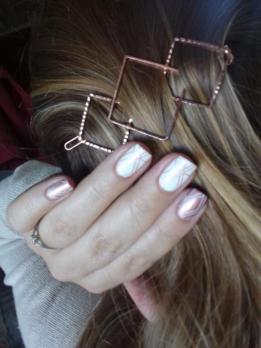 nail art inspiré de ma barette