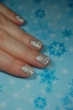 flocons blancs nail art
