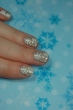 let it snow nail art