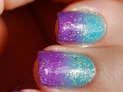 gradient nails blue -purple