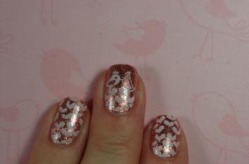 bird love nail art