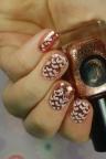 heart rain nail art