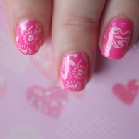 love stamped kit manucure