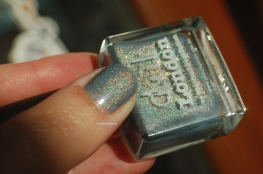 london swatch grey holographic polish