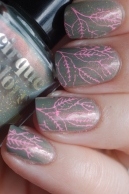 stamping feuilles kit manucure