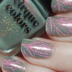 succulent garen cirque stamping pink nailart